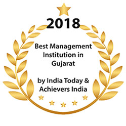 NBS MBA PGDM College 2018 Award for Best Management Institute in Gujarat by india today